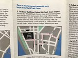 "World Trade Centre NY brochure ""New York begins at the WTC"" -1989_"