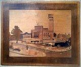 Houtnijverheid - Dudok's raadhuis Hilversum - Paneel -1930's_