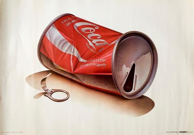 Tom Liddel - Coca Cola Tin Can - 1983