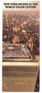 "World Trade Centre NY brochure ""New York begins at the WTC"" -1989"