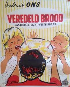 P. Jacquet - Affiche 'Verbruik ons veredeld brood' -